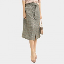 Cocobella Checked Split Grey Skirt (DS1078)