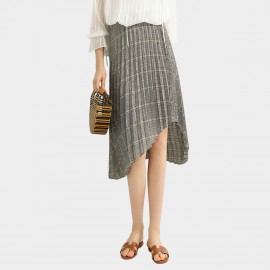 Cocobella High Waist Uneven Hem Grey Skirt (DS1064)