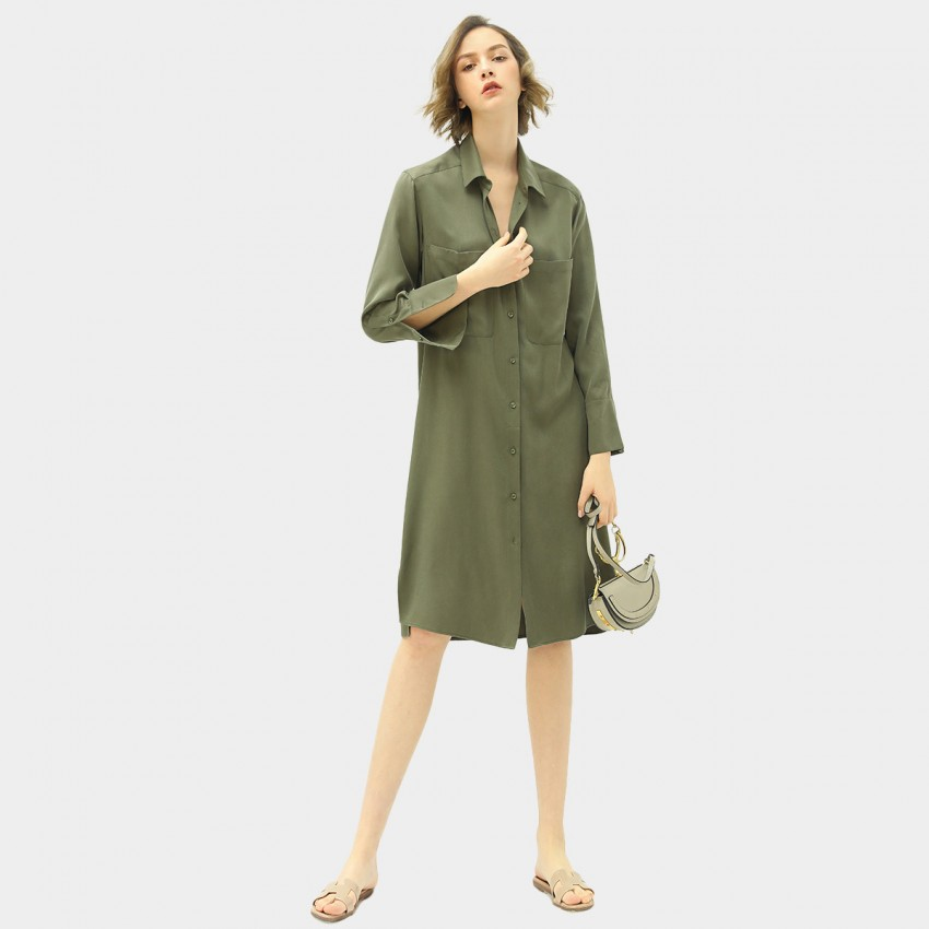 Buy Cocobella Tie Waist Shirt Green Dress online, shop Cocobella with free shipping