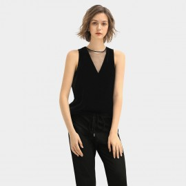 Cocobella Basic Sleeveless Black Top (DA126)