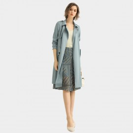 Cocobella Dreamy Summer Blue Trench Coat (CT983)