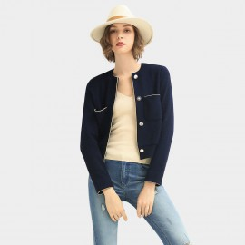 Cocobella Fitted Trim Navy Jacket (CT973)