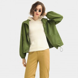 Cocobella Drawstring Hem Green Jacket (CT953)
