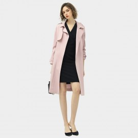 Cocobella Soft Buttonless Pink Trench Coat (CT951)