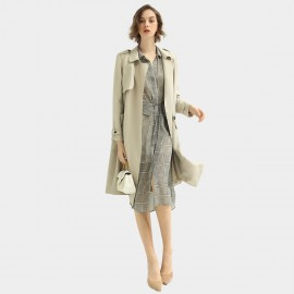 Cocobella Soft Buttonless Beige Trench Coat (CT951)