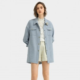 Cocobella Oversized Denim Blue Jacket (CT947)