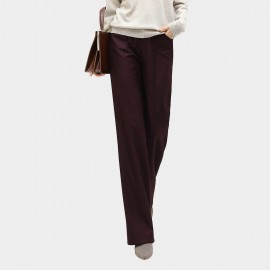 Cocobella Casual Wide-Leg Burgundy Pants (PT551)
