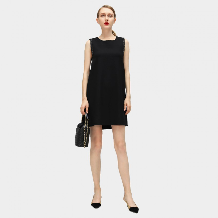 Buy Cocobella Frilled A-Line Black Dress online, shop Cocobella with free shipping