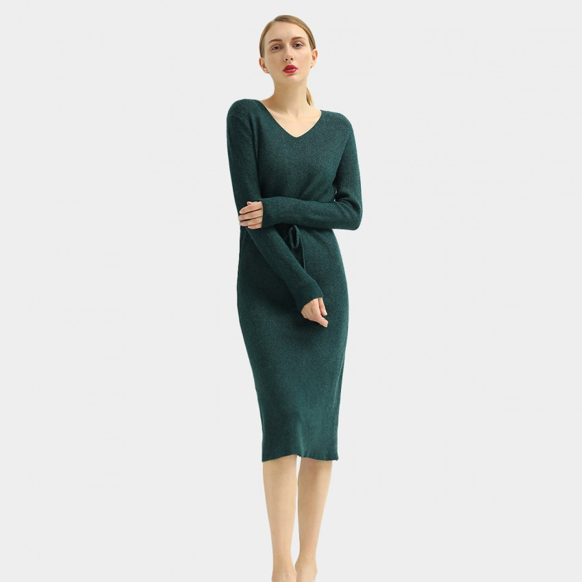 Buy Cocobella Belted Jumper Green Dress online, shop Cocobella with free shipping