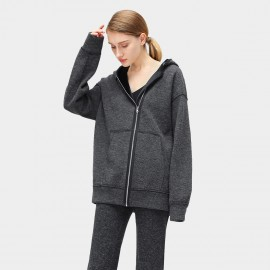 Cocobella Boyfriend Hooded Charcoal Jacket (CT818)