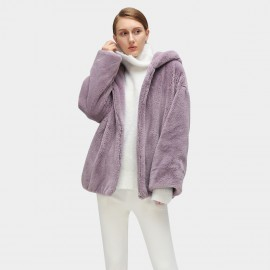 Cocobella Fluffy Hooded Purple Jacket (CT814)