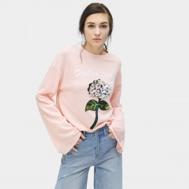 Cocobella Oversized Sporty Floral Pink Tee (TE687)