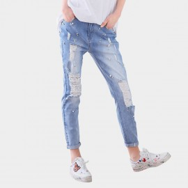 Cocobella Distressed Pearl Blue Jeans (PT458)