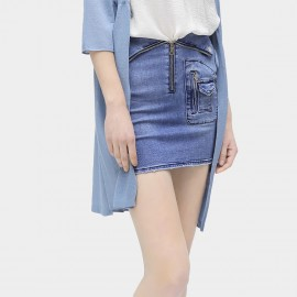 Cocobella Zip-Up Pocket Denim Blue Skirt (DS880)