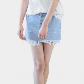 Cocobella Distressed Denim Blue Skirt (DS864)