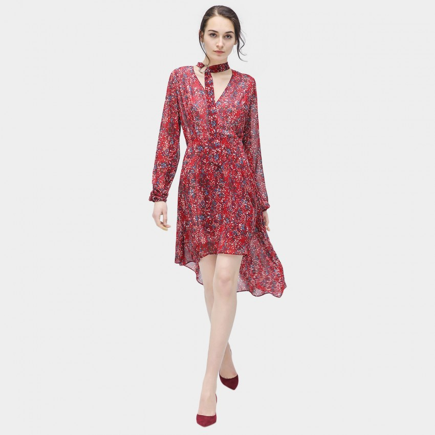 Buy Cocobella Choker Floral Red Dress online, shop Cocobella with free shipping
