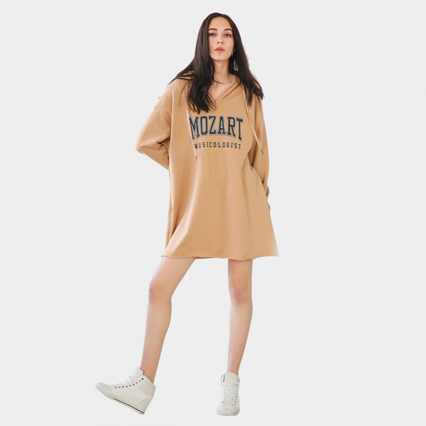 Buy Cocobella Oversized Mozart Sweater Khaki Dress online, shop Cocobella with free shipping