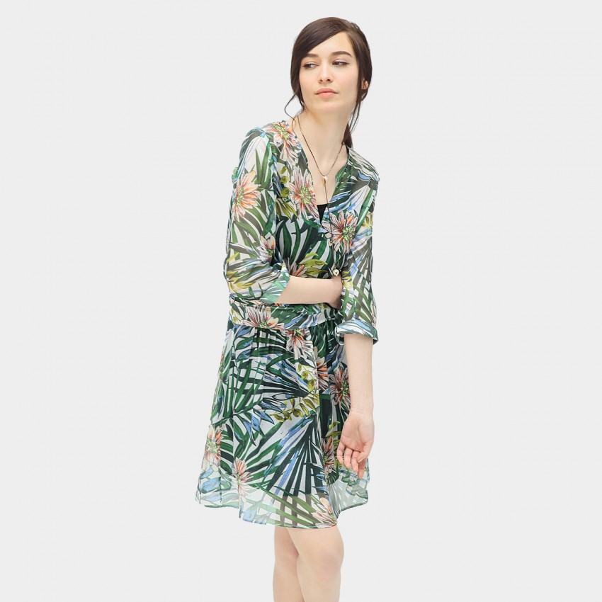 Buy Cocobella Tropical Print Green Dress online, shop Cocobella with free shipping