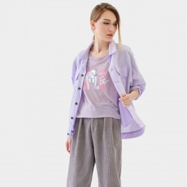Cocobella Distressed Collar Lilac Jacket (CT779)
