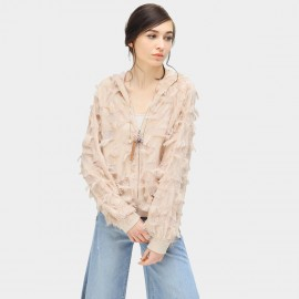 Cocobella Tassel Hooded Nude Jacket (CT735)
