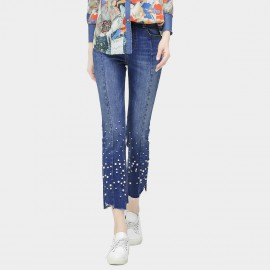 Cocobella Pearl Studded Blue Jeans (PT389)