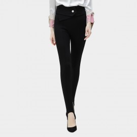 Cocobella Buttoned Slimming Black Pants (PT356)