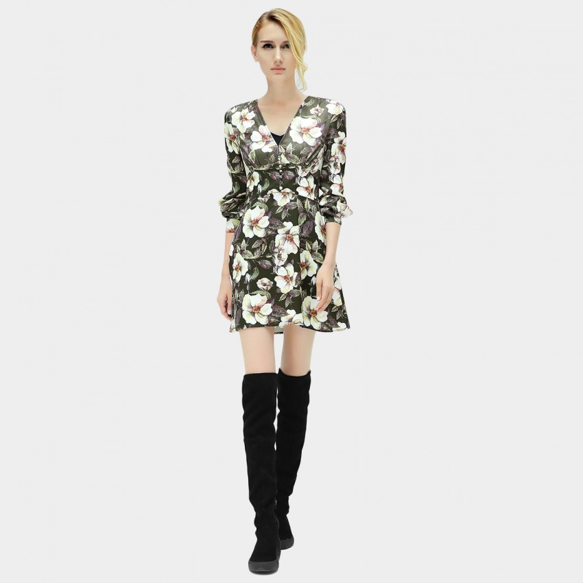 Buy Cocobella V-Neck Floral Dress online, shop Cocobella with free shipping