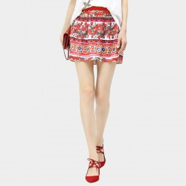 Cocobella Floral Print Red Skirt (DS661)