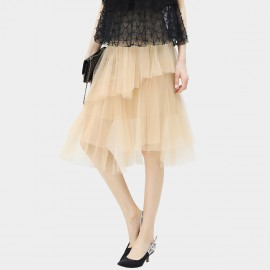 Cocobella Layered Nude Tulle Skirt (DS566)