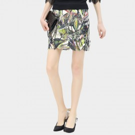 Cocobella Tropicana Pattern Body Con Green Skirt (DS663)