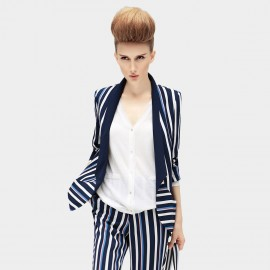 Cocobella Stripped Navy Blazer (CT293)