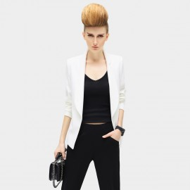 Cocobella Bright and Light Rolled Sleeves White Jacket (CT391)