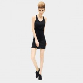 Cocobella Cross Strap odycon Black Dress (DA45)