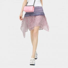 Cocobella Amazon Camellia Chiffon Patchwork Purple Skirt (DS387)