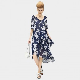 Cocobella Blossoming Cross Strap Camisole Navy Dress (DS402)