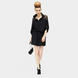 Cocobella Suit Her Up Sheer Chiffon Black Dress (DS411)