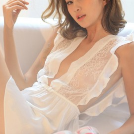 Kngxuea Transparent White Pajama Set (6611)
