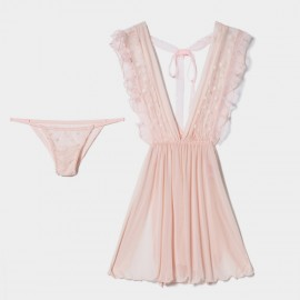 Kngxuea Girly Pink Pajama Set (6630)