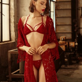 Kngxuea Cheerful Red Pajama Set (6633)