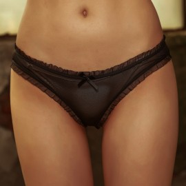 Kngxuea Soft Black Panties (8532)