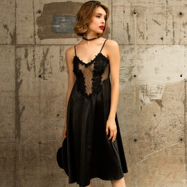 Kngxuea Unique Black Nighties (6706)