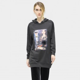 Cocobella Cartoon Hooded Charcoal Sweater (TE609)