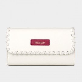 Dreabassa Crafted Style White Wallet (DR95)