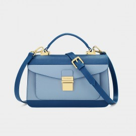 Dreabasaa Double Layer Rectangle Blue Satchel (Dr-17121180)