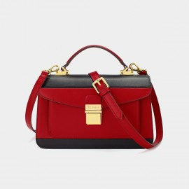 Dreabasaa Double Layer Rectangle Red Satchel (Dr-17121180)