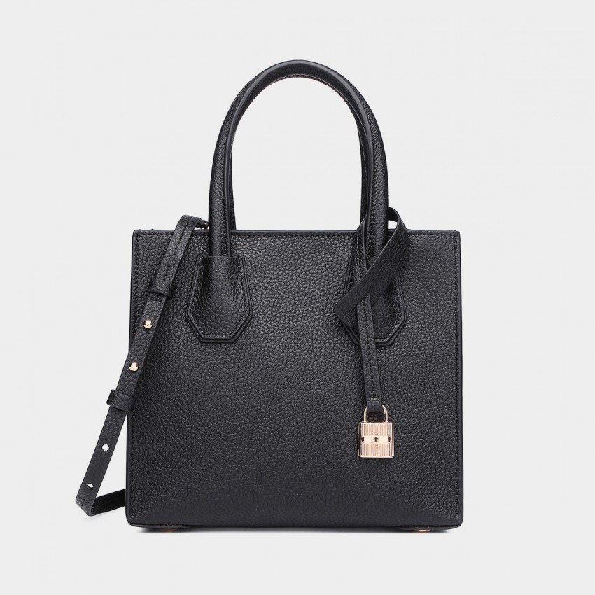 Cilela Clean-Lined Large Black Tote (1618L)