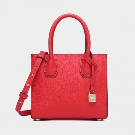 Cilela Clean-Lined Red Tote (1618L)