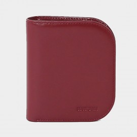 Startown Buttoned Round Corners Short Red Wallet (LD2155)