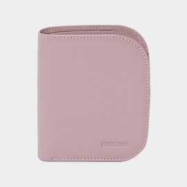 Startown Buttoned Round Corners Short Pink Wallet (LD2155)