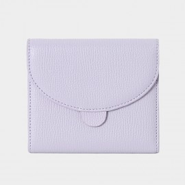 Startown Sweet Stitching Design Short Lilac Wallet (LD2157)